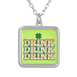 DRINK DRINK DRINK  from The Beer Shop Silver Plated Necklace