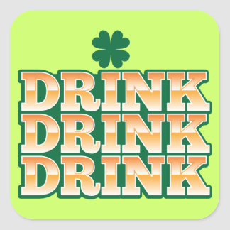 DRINK DRINK DRINK  from The Beer Shop Square Sticker