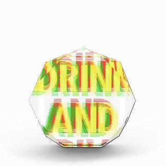 Drink & drive acrylic award