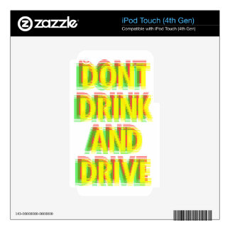 Drink & drive skin for iPod touch 4G