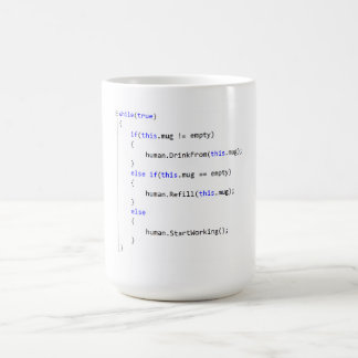 Drink From Refill Infinite Loop Classic White Coffee Mug