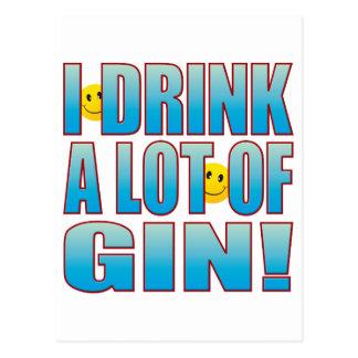 Drink Gin Life B Postcard