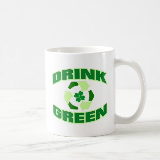 Drink Green (Clover) Coffee Mug