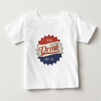 Drink Ice Cold Cola Bottle Cap Baby T-Shirt