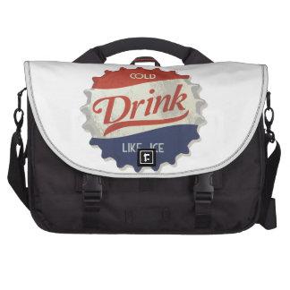 Drink Ice Cold Cola Bottle Cap Laptop Messenger Bag