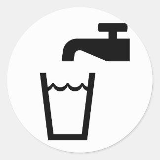 drink icon classic round sticker