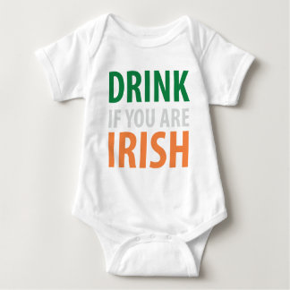 drink if you are irish baby bodysuit
