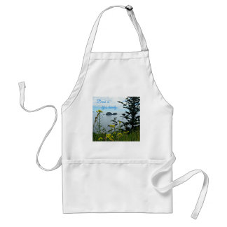 Drink in life's beauty adult apron