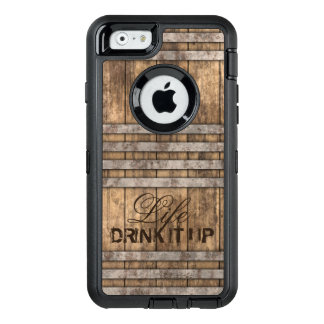 """DRINK IT UP"" Barrel Wood OtterBox Defender iPhone Case"