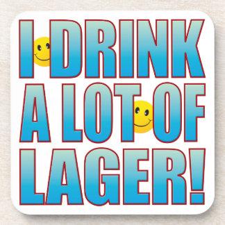 Drink Lager Life B Beverage Coaster