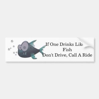 Drink Like A Fish Car Bumper Sticker