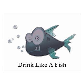Drink Like A Fish Postcard