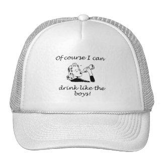 Drink Like The Boys Trucker Hat