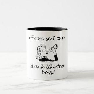 Drink Like The Boys Two-Tone Coffee Mug