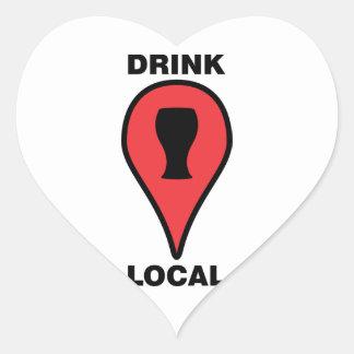 Drink Local Heart Sticker