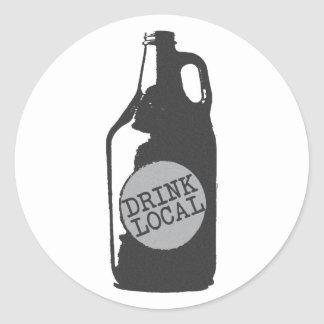 Drink Local! Support Local Craft Beer Classic Round Sticker