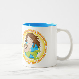"""Drink Locally"" Mother and Baby Breast Feeding Coffee Mug"