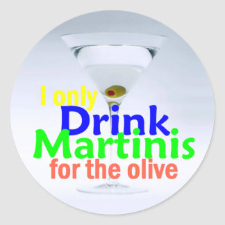 Drink MARTINIS Sticker