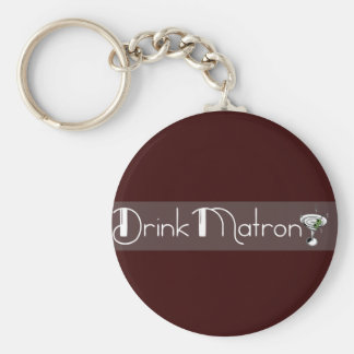 Drink Matron Logo Keychain