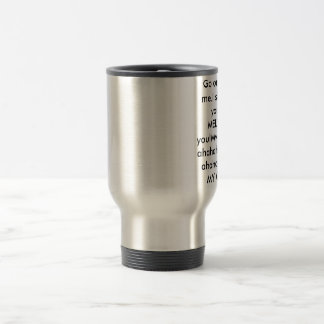 Drink me 15 oz stainless steel travel mug