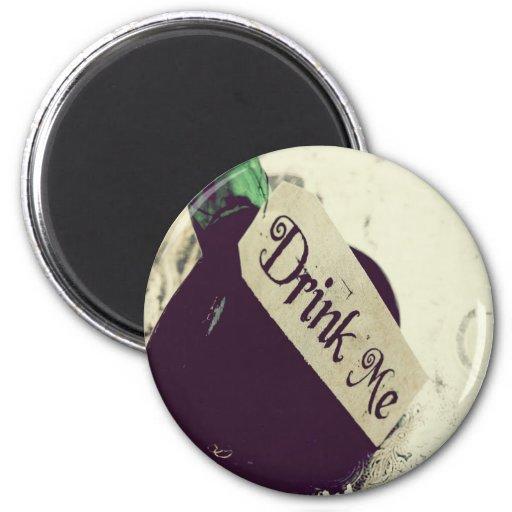Drink Me 2 Inch Round Magnet