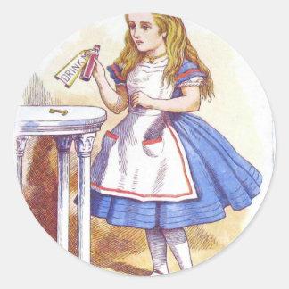 Drink Me, Alice! Classic Round Sticker
