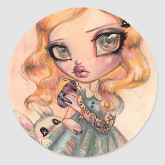 Drink Me - Alice in Wonderland by Natasha Wescoat Classic Round Sticker