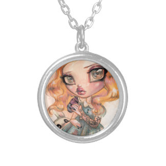 Drink Me - Alice in Wonderland by Natasha Wescoat Silver Plated Necklace