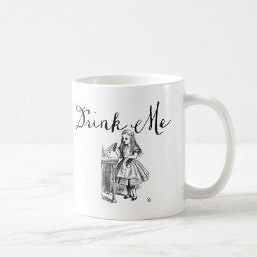 Coffee Themed Drink Me Alice in Wonderland Mug