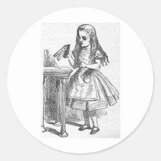 Drink Me, Alice in Wonderland Round Stickers