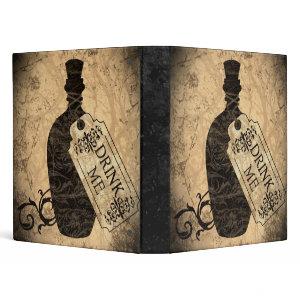 Drink Me Bottle Binder binder