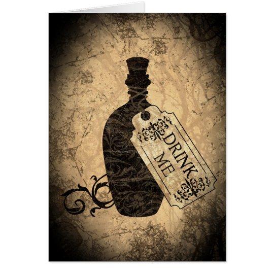 Drink Me Bottle Card