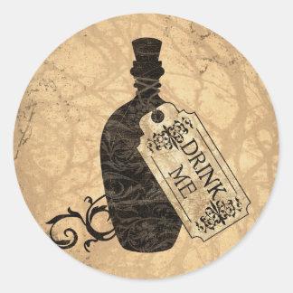 Drink Me Bottle Classic Round Sticker