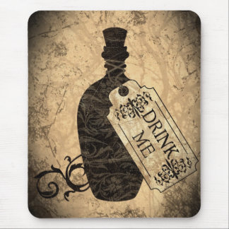 Drink Me Bottle Mouse Pad