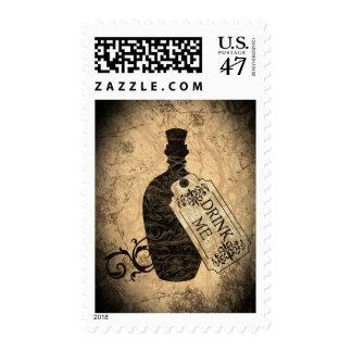 Drink Me Bottle Postage Stamp