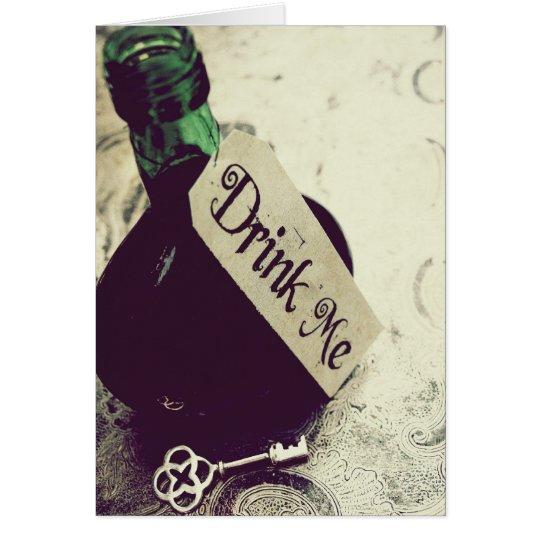 Drink Me Card