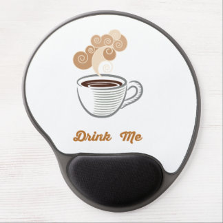 Drink Me Coffee Retro Hipster Gel Mouse Pad