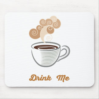 Drink Me Coffee Retro Hipster Mouse Pad
