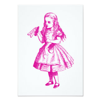 Drink Me Inked Pink 5x7 Paper Invitation Card