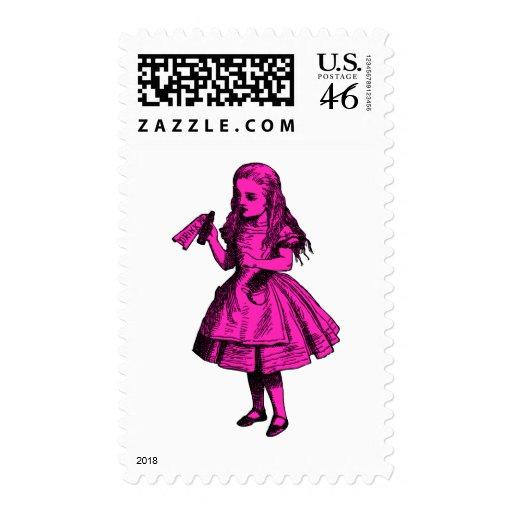 Drink Me Inked Pink Fill Postage Stamp