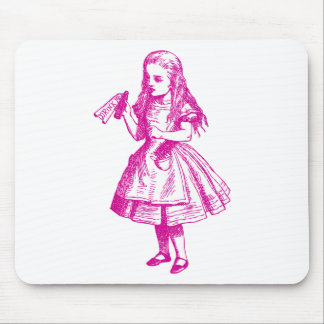 Drink Me Inked Pink Mouse Pad
