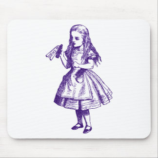 Drink Me Inked Purple Mouse Pad