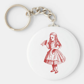 Drink Me Inked Red Basic Round Button Keychain