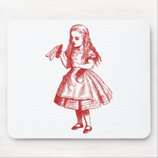 Drink Me Inked Red Mouse Pad