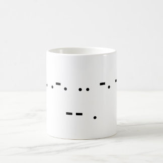 Drink Me (Morse) Classic White Coffee Mug