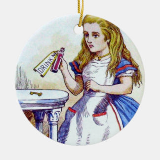 """""""Drink Me"""" Potion with Alice Christmas Tree Ornament"""