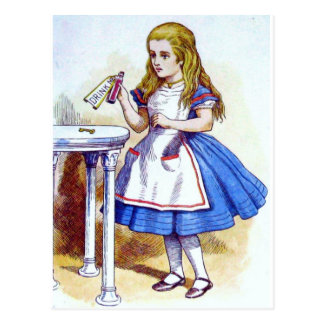 """""""Drink Me"""" Potion with Alice Postcard"""