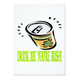 Drink Me Your Irish 5x7 Paper Invitation Card