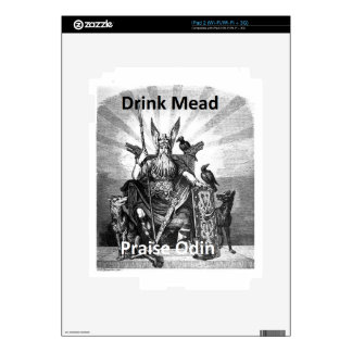 Drink Mead - Praise Odin Decal For iPad 2