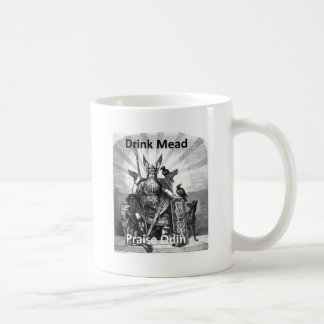 Drink Mead - Praise Odin Classic White Coffee Mug
